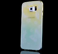 modello di farfalla sottile trasparente cambiamento graduale stampato cassa fredda tpu telefono per la galassia S6 (colori assortiti)