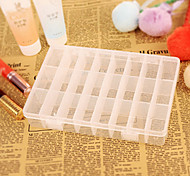 24 Cases Removable Transparent Plastic Storage Box