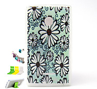 Painted Relief  Chrysanthemum Pattern Slim TPU Material And Dust Plug Bracket Assembly for Nokia Microsoft Lumia 435