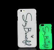 Phrase Pattern Glow in the Dark Cover for iPhone 6 Plus Case