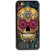 Petal Skull Design Aluminum Hard Case for iPhone 5C