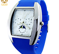 Men's Oval Dial Casual Watch Silicone Strap Quartz Watch Fashion Wrist Watch (Assorted Colors)