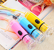 Fancy Design Colorful Plastic Mini LED Flash Light (Random Color)