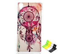Campanula Pattern TPU Soft Cover and Stand for Sony Xperia Z3