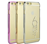 iSecret+® Golden Diamond Series with Vacuum Electronic Plating and Laser Etching for iPhone 6(Assorted Colors)