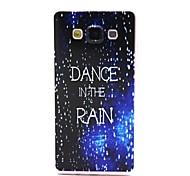 coco de la marche dans le motif de pluie TPU doux IMD de couverture de cas pour Samsung Galaxy a3