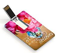 Flor 64gb usb flash drive cartão de design