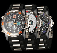 New fashion men's business double movement movement waterproof anti fall large dial watches LCD BWL608