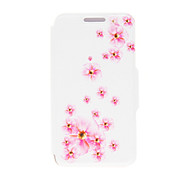 For Huawei Case / P8 / P8 Lite with Stand / Flip Case Full Body Case Flower Hard PU Leather HuaweiHuawei P8 / Huawei P8 Lite / Huawei P7
