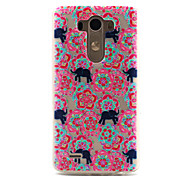 For LG Case Pattern Case Back Cover Case Elephant Soft TPU LG