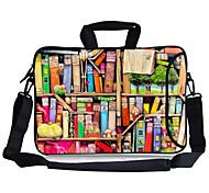 "Elonbo Colorful Bookshelf Carrying Handle & Removable Shoulder Strap Laptop Bag for 13"" Macboob pro HP"