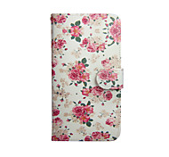 Peony Graphic Photo Frame Slot PU Leather TPU Full Body Bumper Cases with Stand for LG F70