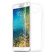 capa de silicone para trás transparente para Samsung Galaxy e5