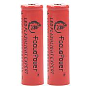 6800mAh 18650 batteria agli ioni di litio ricaricabile fuoco 4.2v di alimentazione (2 pezzi)