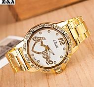 женские моды алмазов слова любви Кварцевые аналоговые сетки браслет пояса часы (разных цветов)