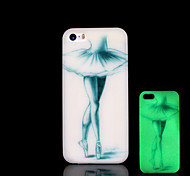 belleza patrón resplandor en el caso duro para el iphone 5 oscuro / iphone 5 s