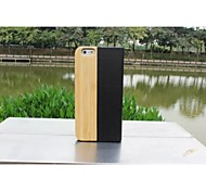 New Luxury Natural Bamboo Wood Genuine Leather Flip cover Wooden Hard Protective Shell Cover for Iphone 6
