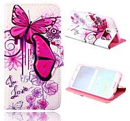 levendige vlinder patroon pu leer full body case met standaard voor de Samsung Galaxy s6