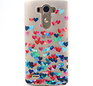 5.5 Inch Love Pattern TPU Soft Case Back Cover for LG G3