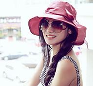 UV Sunscreen Folding Bow Visor Floppy Hat