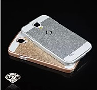 diseño especial de metal y plástico de la contraportada para Samsung i9500 s4