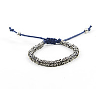 Fashion Women Multi Metal Ring Adjustable Cord Bracelet