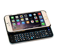 Wireless Bluetooth Backlit Keyboard with Micro Usb Charger Ultra-thin Case Full QWERTY Keyboard for iPhone6(Black)