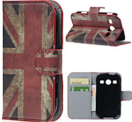 Retro Union Jack PU Leather Case Cover with Stand and Card Slot for Samsung Galaxy Xcover 2 S7710