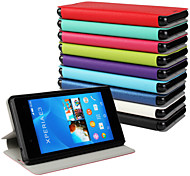 PU Leather Magnetic Ultra-thin Flip Cover Wallet Card Slot Case Stand Skin Cover for Sony Xperia E3 (Assorted Colors)