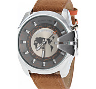 Men's Military Design Case Fabric Band Quartz Wrist Watch