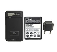 YIYI™ Decoded Replacement 3800mAh Battery with Charger and EU Plug for LG G3 / BL-53YH / D855