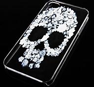 fondello trasparente modello ossa incrociate per iphone4 / 4s