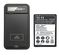 YIYI™ Decoded Replacement 3800mAh Battery with Charger for LG G3 / BL-53YH / D855 / VS985 / D830
