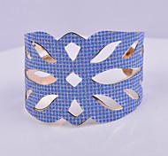 D Exceed Women's Bracelet Jewelry Fashion Gold Plated Wide Bracelet Hollow Out Round Dot Scrub Handmade Cuff Bracelets