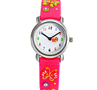 Fashion boy and girl children's cartoon 3D environmental protection silicone quartz watch (Butterfly) ET009