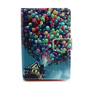 casa balão padrão de capa de couro pu com fecho magnético e slot para cartão para nokia lumia 630