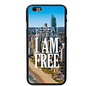 I am Free Design PC Hard Case for iPhone 6