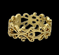New Style Cheap Wholesale Howllow Out Gold Plated Ring
