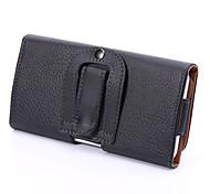 universal pu lichia clipe de fivela abrir cima e para baixo caso horizontal pendurado bolsos para Samsung Galaxy S5 S6 s3mini a3