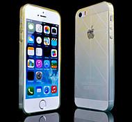 Kreuzmuster gradient dünne transparente TPU-Material Mobile Shell für iPhone 5/5 s (verschiedene Farben)