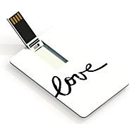 4GB Love Pattern Card USB Flash Drive
