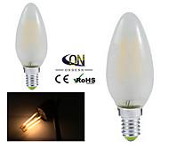ONDENN E12 4 W 4 COB 400 LM 2800-3200K K Warm White A Dimmable Candle Bulbs AC 110-130 V