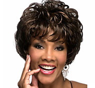The New Middle-Aged Black  Mixed Color Brown Short Hair Wig
