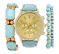 Ladies' Luxury Fashion Diamond Bracelet Alloy Band Quartz Wrist Watch