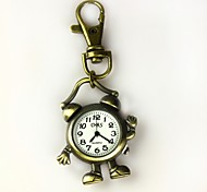 Women's Shape Of The Alarm Clock Keychain Watch