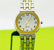 caixa da liga analógico mostrador redondo banda de liga de quartzo japonês relógio relógio de homens de negócios dos homens do relógio dos