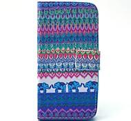 племенной узор ковра слон PU кожаный чехол для всего тела с слотом для карт Samsung Galaxy S5 мини