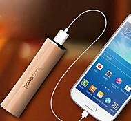 Lighting Power Full Capacity 2600mAh Round Natural Wood External Libattery for iPhone6/6 Plus and other Mobile Devices