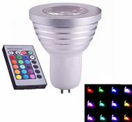 1 pcs ding yao GU5.3 3W 1X High Power LED 60-320LM RGB Spot Lights AC 85-265V