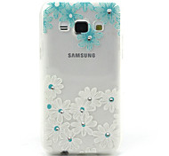 Flowers Pattern TPU Soft Cover  for Samsung Galaxy A3